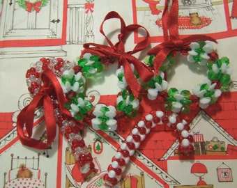 lovely beaded christmas ornaments