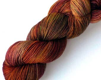 NEW Polwarth Sock Yarn Handdyed, Walk in the Woods