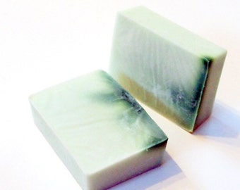 Lime Mint scented soap bar - 5.25 ounces - detergent free, vegan soap bar