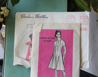 NEW YEAR SAVINGS Summer Dress with slimming lines by Marian Martin pattern 9051