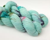SEA BREEZE - Hand Dyed Yarn - Sparkle Sock Yarn Fingering - Ready to Ship - Vivid Yarn Studio