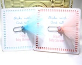 Baby Shower Favors - Journal Marker- Set of 10 - Rattle - Bookmark - Personalized - Custom - Unique
