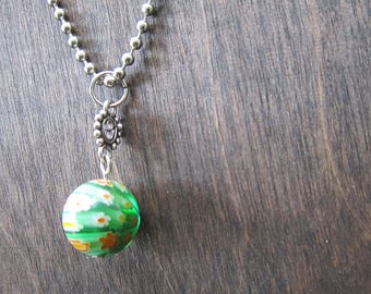 Green Planet - Ball Chain with Pendant