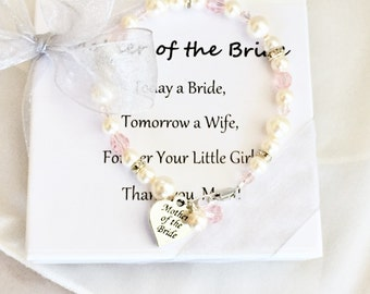 Mother of the Bride Pearl Bracelet // mother of the groom bracelet, mothers gift bracelet, mother of the bride jewelry, light pink