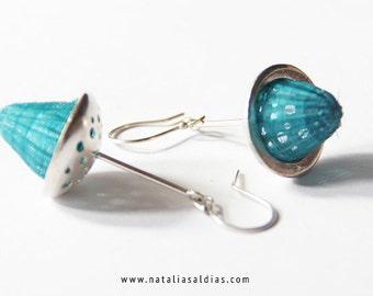 beautiful earrings horsehair