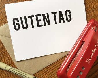 Guten tag - Text Cards - Greeting Card - Thank You, Stationery