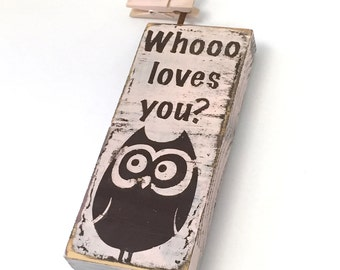 Best unique baby girl gifts - who loves you - Baby girl gifts unique - photo holder - owlet