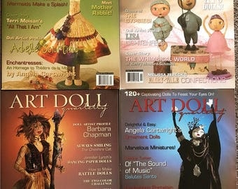 4 Rare Out-of-Print Issues of ART DOLL Quarterly Magazine // 2003  Winter - Autumn -Summer & 2007 Spring // Craft Supplies