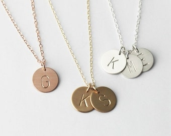 Custom Initial Necklace, Personalized Necklace, Silver, Rose or Gold Letter Necklace, 1, 2 or 3 Initial Charm Necklace, Personalized jewelr