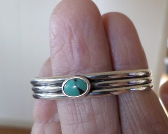Turquoise and Silver Baby Cuff