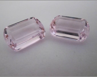 Sale, Luxe AAAA  Pink Topaz, Matching Pair, Cushion Shape, Front Drilled, Beautiful Earring Focals,  Gorgeous Stones, TCW 45.69