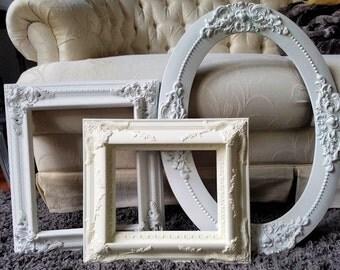 Three Antique Frames, Antique Ornate Picture Frames, Shabby Cottage Frames, Home Decor, Wall Decor