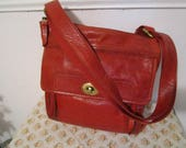 Leather Bag, Red Leather Bag, Fossil bag, Cross-body bag, Fossil cross-body, classic Fossil bag, shoulder bags