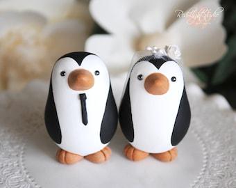 Penguin Cake Topper - Wedding - Medium