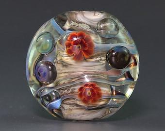 30% OFF Lampwork focal glass flower Bead by Ikuyo SRA