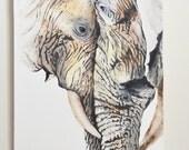 Elephants Original Painti...