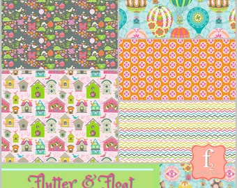 Flutter & Float Fabric Bundle  - Ana Davis  - Blend Fabric