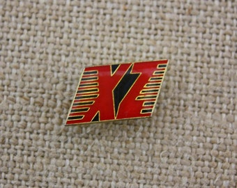 XZ Racing - Yamaha XZ Motorcycle - Enamel Pin by American Gag Bag Inc. - Vintage Novelty Pin c. 1980s