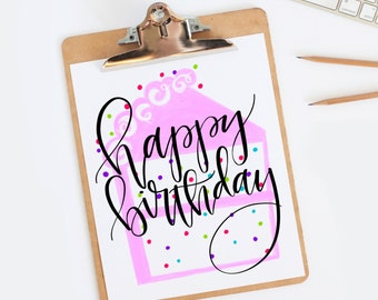 Just for Fun Happy Birthday Sign Instant Download ALMOST FREE!