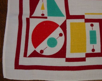 Vintage Deco Bauhaus Tablecloth Dunmoy?