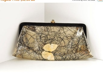 Sale Mid Century Modern Clutch Handbag Purse, Wedding Accessory, Kitsch Handbag, Butterfly