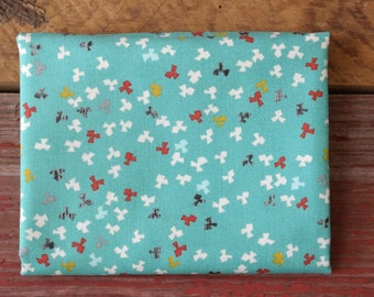 MODA Ninja Cookies Yardage Geometric Buds Teal 30545 18 Turquoise Jenn Ski
