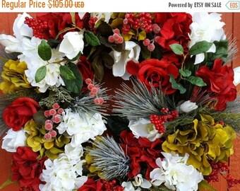 Hydrangea Wreath....Holiday Wreath....Christmas Wreath.....Winter Wreath