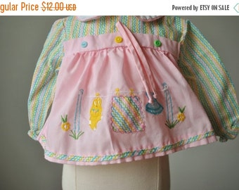 ON SALE 1960s Pink Duck Spring Blouse~Size Newborn