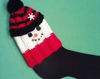 Post Foot Surgery Gift/Snowman Cast Sock/Holiday Cast Sock/Unisex Cast Sock/Get Well Gift/Ankle Cast/Broken Ankle Gift/McSparkles Cast Sock