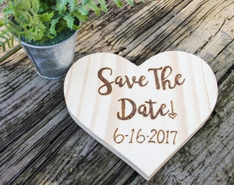 Save the Date! - Engagement Photo Prop - Wedding Sign- Wedding photo prop - Save the date heart