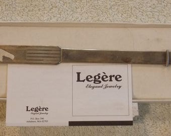 "Legere 925CDL letter opener new in box 10"" needs polishing and initialing"