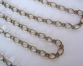 10 Feet Chain, Antique Bronze Color, Lead, Nickel, & Cadmium Free, Finding Supply long 5 X 8 mm, 1 MM thick and short 4x3.5mm, 0.8mm thick