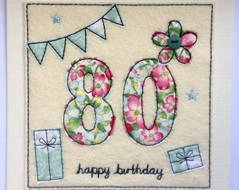 Age 80 - 80th Happy Birthday Card