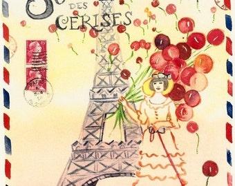 Cherry Paris letter shipped flat