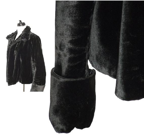 antique black velvet jacket