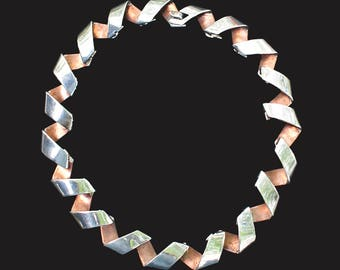 "Antonio Pineda ""Ribbon"" necklace,  Midcentury Modern"