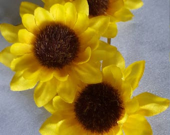 Sunflower Bobby Pins Bridal Pin Hair Flower Girl Hair Clip Bobbies Set