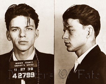 REMASTERED Frank Sinatra Mugshot Poster Print Photograph (with or without Frame) Various Sizes