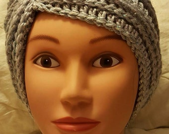 New crocheted turban, chemo cap