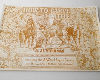 "vintage 1952 ""How to Carve Leather"" Instruction Booklet COWBOY HEAVEN #020"