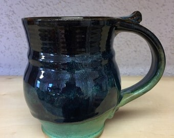 matte green with layered black glaze