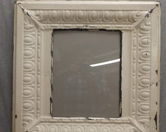 TIN Ceiling Metal Picture Frame Cream 11x14 Shabby Recycled chic 28-17R