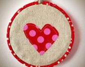 Embroidery Hoop Heart Art