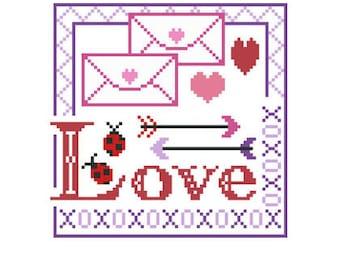 PDF -- Love Valentine's Dat cross stitch Pattern