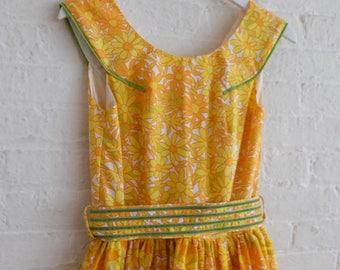 Floral Tea Dress  { Tangerine Dream   } size 4