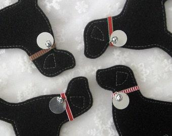 Black Lab Ornament - Classic Collar - FREE Customization & Personalization