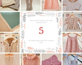 Pattern Package - choose any 5 crochet patterns