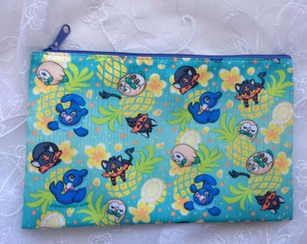 Owl, Kitten and Seal Zippered Bag Pouch