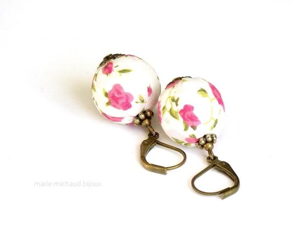 Liberty earrings,Summer earrings,Flower earrings,Bride earrings,Wedding earrings, Country chic earrings,Wedding jewelry,Romantic earrings