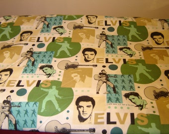 Elvis Presley Fabric OOP, Rare And Hard To Find, Cranston Village, Nostalgia, Collectible